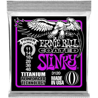 Ernie Ball COATED - TITANIUM RPS POWER SLINKY