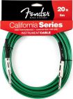 Fender California Instrument Cable, 6m, Surf Green